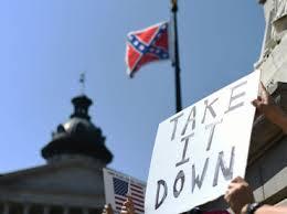 La bandera confederada en el Capitolio de la capital de Carolina del Sur