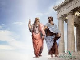 Un cuadro representa un hipotético paseo entre Sócrates y Platón en Atenas