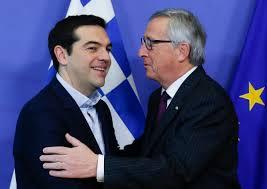 El primer ministro griego, Alexis Tsipras, y el presidente de la Comisión, Jean Claude Juncker