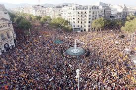 Una de les manifestacions multitudinàries de les últimes Diades.