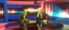 Raül Romeva i Stephen Sackurt en l'entrevista Hardtalk de la BBC