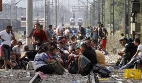 Refugiados sirios intentando entrar en la UE a través de Serbia