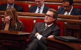 Artur Mas, en el debate de investidura en el Parlament de Catalunya