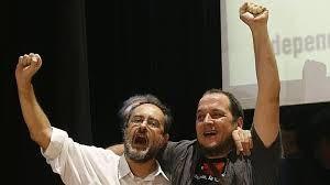 Antonio Baños, dos protagonistas relevantes de la política de la CUP