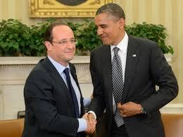 François Hollande y Barack Obama en la reunión en Washington para combatir el terrorismo de Daess