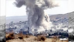Efectos de los bombardeos sobre emplazamientos en Siria