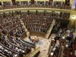 Sesión en el Congreso de los Diputados de Madrid