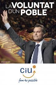 Cartel electoral de Artur Mas en las elecciones de 2012