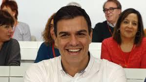 Pedro Sánchez en el Comité Federal celebrado hoy en Madrid