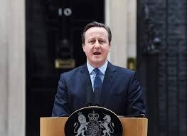 David Cameron anunciant la convocatòria d'un referèndum sobre Europa que tindrà lloc el 23 de juny