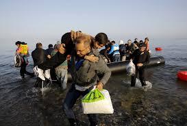 Llegada masiva de refugiados a las costas de Grecia