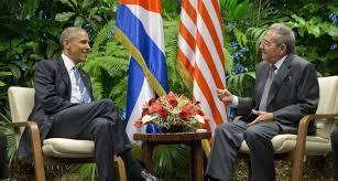 Barack Obama y Raúl Castro en el Palacio de la Revolución de La Habana
