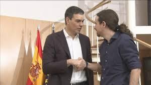 Pedro Sánchez y Pablo Iglesias en la reunión que celebraron en el Congreso para intentar formar un gobierno