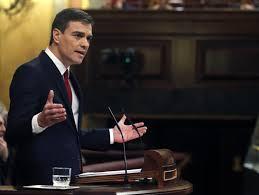El socialista Pedro Sánchez en el primer debate de investidura