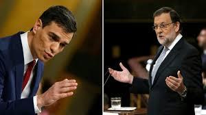 Pedro Sánchez y Mariano Rajoy en el último debate de investidura