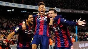 Luis Suárez,Neymar jr y Leo Messi marcan la estética de una larga época de triunfos