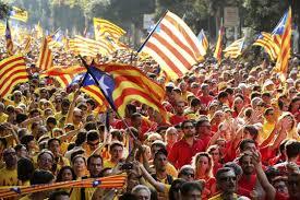 Manifestación multitudinaria en Barcelona en la última Diada