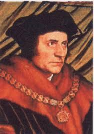 Retrato de Tomas Moro, autor de la Utopía, pintado por Holbein.