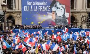 Un acto político del Frente Nacional en Francia en contra de Bruselas