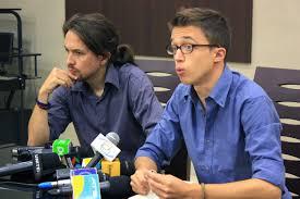 Pablo Iglesias e Iñigo Errejón, dos profesores del núcleo fundador de Podemos