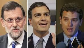 Mariano Rajoy, Pedro Sánchez y Albert Rivera tienen en sus manos la investidura y la formación de un nuevo gobierno