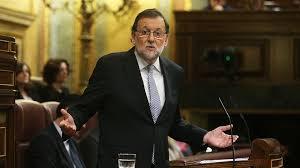 Mariano Rajoy en su discurso de investidura que ha sido fuertemente criticado.