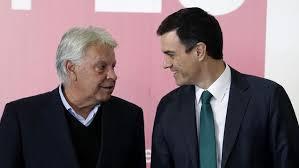 Felipe González y Pedro Sánchez discrepan sobre el papel del PSOE en estos momentos.