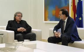El presidente en funciones, Mariano Rajoy, y el líder de Esquerra Republicana, Joan Tardà