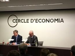 El president de Valencia, Ximo Puig, en el Cerecle de Economia, presentado por Anton Costas