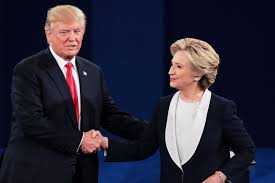 Donald Trump y Hillary Clinton en uno de los debates televisivos