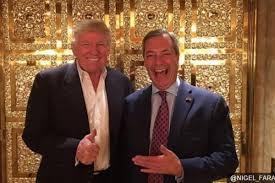 Donald Trump se reunió con Nigel Farage en la Puerta dorada de su ático en la torre de la V Avenida. Una Casa Blanca en funciones un tanto singular
