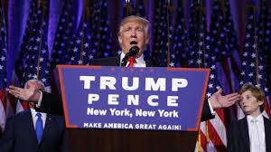 Donald Trump en su discurso de la victoria en las elecciones del 8 de noviembre