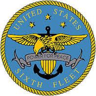 La insignia de la VI Flota norteamericana que patrulla las aguas del Mediterráneo. ¿Cómo administrará Trump su poder?