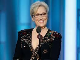 La veterana actriz Merlyn Streep criticandi implícitamente el fondo y las formas de Donald Trump en la ceremonia de los Globos de Oro de Hollywood