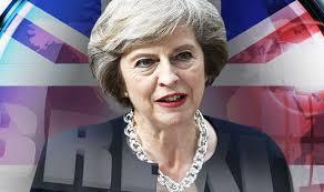 La primera ministra, Theresa May, El día que esbozó su plan para implementar el Brexit